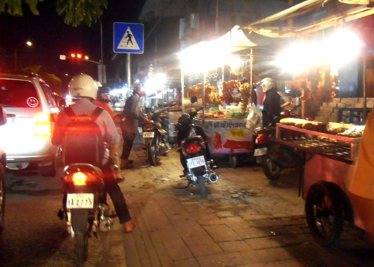 Night food market on street