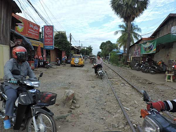 Life along the railroad tracks in Phnom Penh