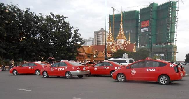 Taxi in street
